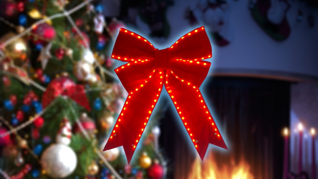 LED Red Bow - Great for Night and Day