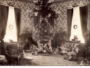 President Grover Cleveland and Family Christmas Tree, in 1984